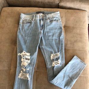 High waist light wash Express skinny jean